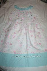 Льняное платье со стразами на 6-7лет