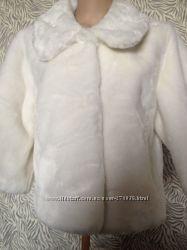 Calvin Klein Шуба белая L искуственная шубка нарядная свадебная