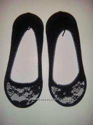 Женские носки подследники из хлопка с кружевом идеальны под любую обувь