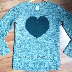 свитер с сердем