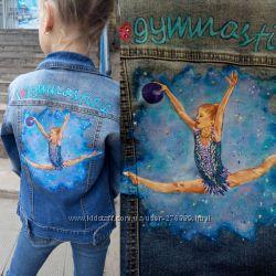 Рисунок на джинсе куртке футболке