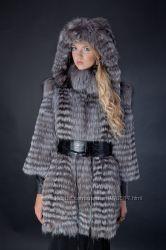 меховое пальто шуба  из меха чернобурки. рассрочка
