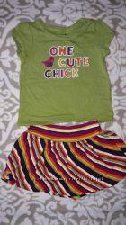 Комплектюбка и футболка Crazy 8, 12-18мес.