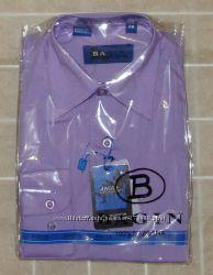 Рубашка детская фиолетовая - длинный рукав - р. 35