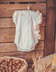 Комплект нарядный для новорожденной - р. 62, 68