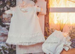 Комплект нарядный для новорожденной Нюша - р. 62, 68