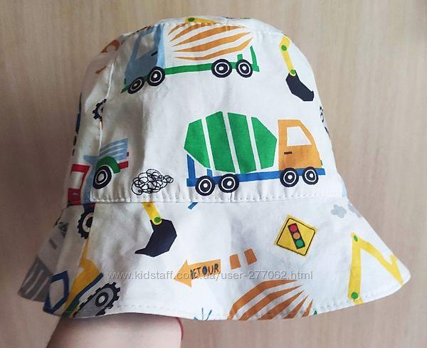 Детские двухсторонние панамки для мальчиков и девочек