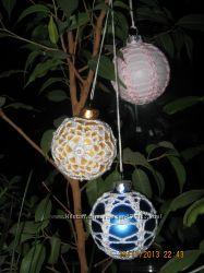 Ёлочные шары декор-ручная работа
