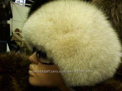 шапка цельная песцовая регулируется ширина головы
