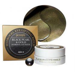 Гидрогелевые патчи для век Petitfee Black pearl & gold hydrogel eye patch