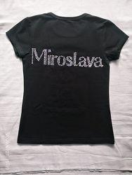 Именная футболка для Мирославы