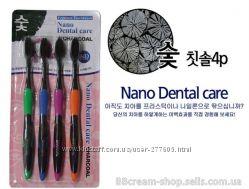 Угольные зубные щетки Nano Dental