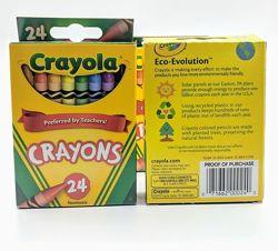 Восковые карандаши crayons от crayola 24 цвета