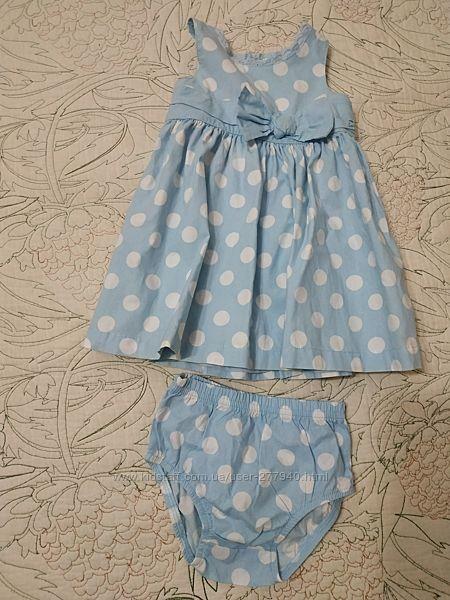 Платье и трусики на памперс хлопок Картерс набор комплект carter&acutes 12м