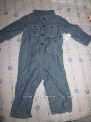 нарядный джинсовый комбинезон GAP 12-18М