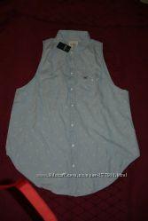 рубашка Hollister размер М свободный крой