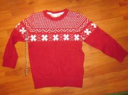 Нарядный теплый свитер HM