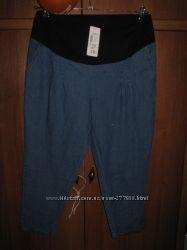 Новые капри джинсовые. Можно для беременных. р. 46-48