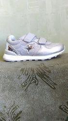 Кроссовки серебряные для девочки