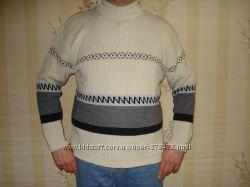 Свитера итальянские для плотных мужчин невысокого роста, шерсть