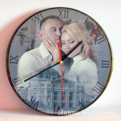 Часы с вашими фотографиями.  Фотошоп  декупаж.