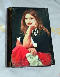 Лучший подарок Подруге-Шкатулка с ее портретом. Декупаж.