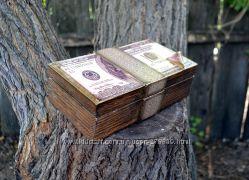 Ретро-Купюрница в виде Пачки 100долларовых банкнот, подарок Мужчине
