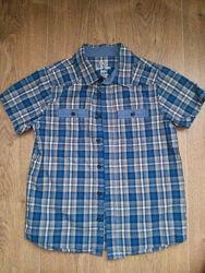 Рубашка с коротким рукавом на мальчика 9-10 лет - рост 140 см. , F&F