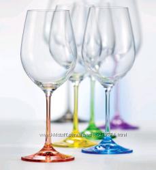 Бокалы для вина Bohemia Rainbow 550 мл-6шт