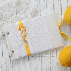 Свадебная книга пожеланий. Лимонно-желтый