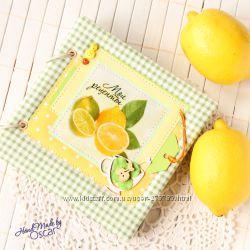 Кулинарная книга Лимон, блокнот для рецептов, ручная работа