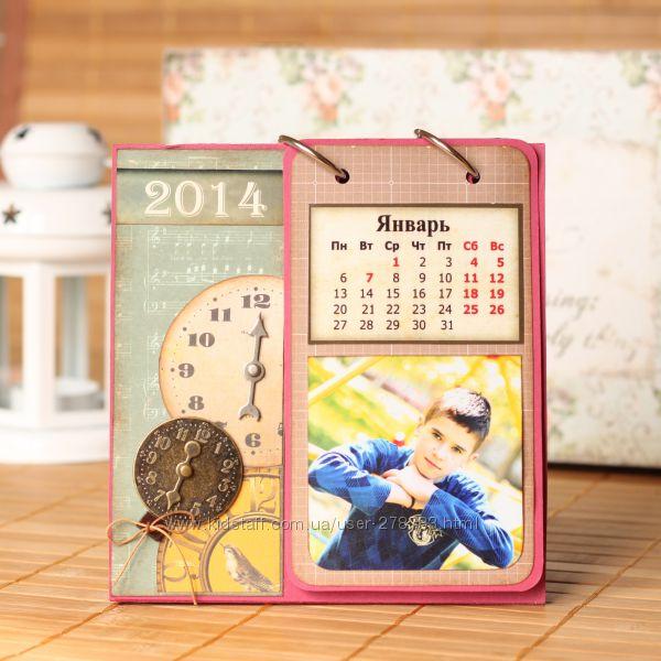 Календарь-фотоальбом, ручная работа