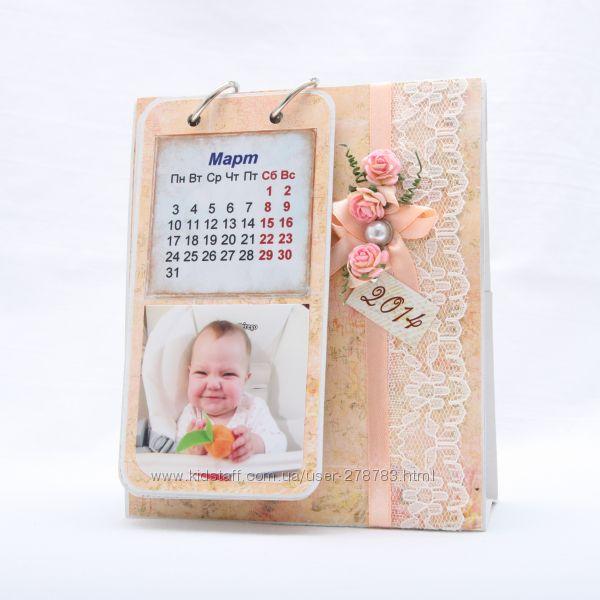 Календарь с Вашими фото, ручная работа