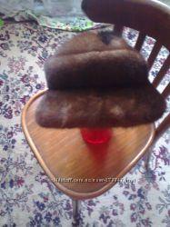 продам шапку-шляпку норка новая