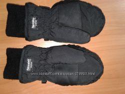 Очень тёплые детские рукавицы-краги на 4-7 лет