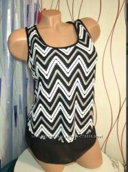 Новая блуза Zebra Ажурная, на чёрной шифоновой подкладке
