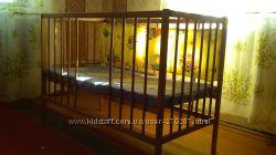 Детская кроватка Наталка с матрасиком