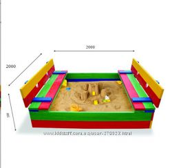 Детская песочница 30 размер 200х200см SportBaby  30