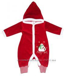 Красные новогодние костюмчики для малышей размеры 56-62, 62-68
