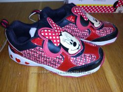 Кроссовки Disney Minnie с мигалками. 32р. Стелька 20. 8см.