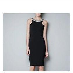 Черное бандажное платье Zara