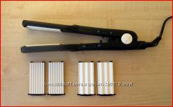 Качественный Гофрированный Выпрямитель для волос С керамическими Насадками