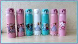 Термосы-Tермостаканы. Красочные весёлые с удобным поильником для детей.