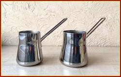Кофеварки Турки из  Нержавеющей стали. На 300мл. и 550мл.