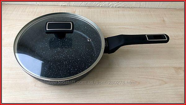 Крутые Сковороды-Сотейники с Мраморным покрытием с высоким бортом.