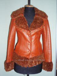 Эксклюзивная куртка из натуральной кожи  YEZELUN.