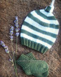 Комплекты для новорожденных шапочки пинетки