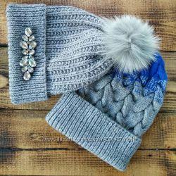 Красивые шапочки  и наборы ручной работы