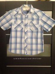Рубашка белая с голубым Next на 10 лет