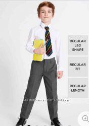 Классические школьные серые брюки 15-16 лет marks & spencer